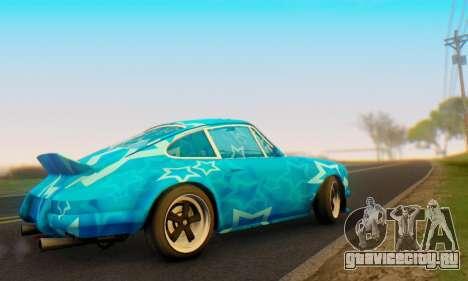 Porsche 911 Blue Star для GTA San Andreas вид справа