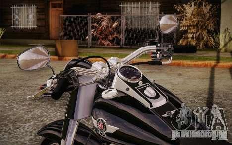 Harley-Davidson Fat Boy Lo 2010 для GTA San Andreas вид сзади