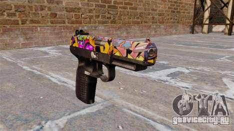 Пистолет FN Five-seveN Graffitti для GTA 4