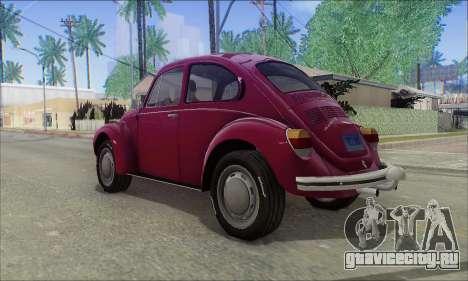 1973 Volkswagen Beetle для GTA San Andreas вид слева