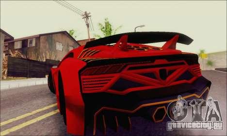 Zentorno GTA 5 V.1 для GTA San Andreas вид сверху