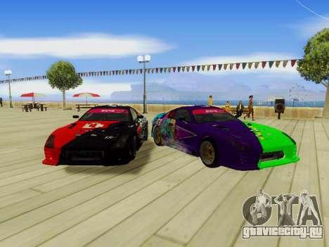 Toyota Supra Evil Empire для GTA San Andreas вид слева