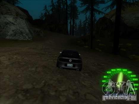Спидометр в стиле neon для GTA San Andreas четвёртый скриншот
