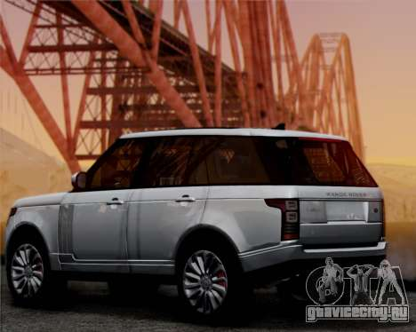 Range Rover Vogue 2014 для GTA San Andreas вид сзади слева