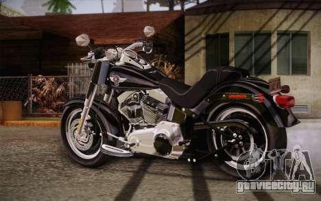 Harley-Davidson Fat Boy Lo 2010 для GTA San Andreas вид слева