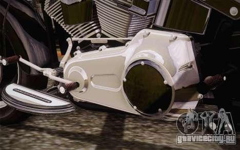 Harley-Davidson Fat Boy Lo 2010 для GTA San Andreas вид сзади слева