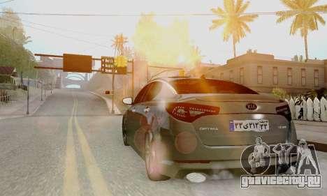 Kia Optima Stock для GTA San Andreas вид слева