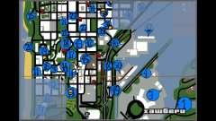 Hidden Photos Map для GTA San Andreas