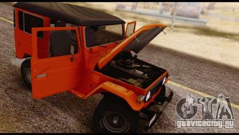 Toyota Land Cruiser (FJ40) 1978 для GTA San Andreas вид снизу