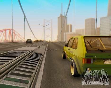 Volkswagen Golf Mk I для GTA San Andreas вид сзади