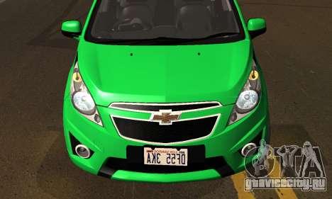 Chevrolet Spark 2011 для GTA San Andreas вид изнутри