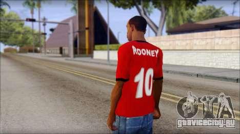 Manchester United 2013 T-Shirt для GTA San Andreas второй скриншот