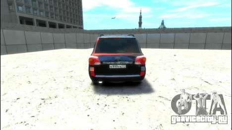 Toyota Land Cruiser 200 2013 для GTA 4 вид справа