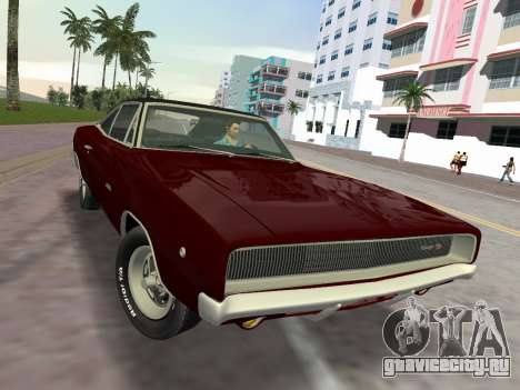 Dodge Charger RT 426 1968 для GTA Vice City вид справа