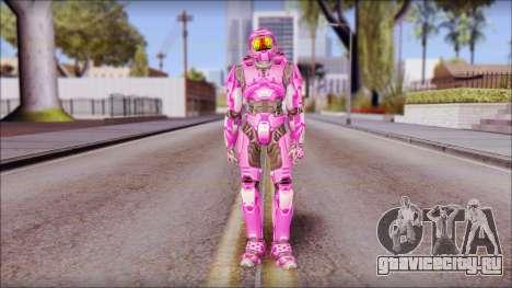 Masterchief Pink from Halo для GTA San Andreas второй скриншот