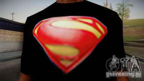 Man of Steel T-Shirt для GTA San Andreas третий скриншот