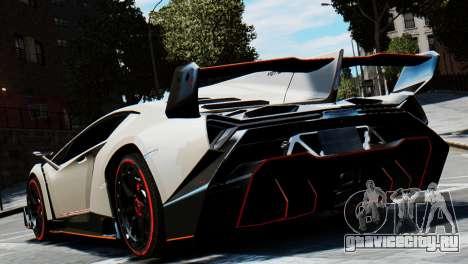 Lamborghini Veneno 2013 для GTA 4 вид сзади