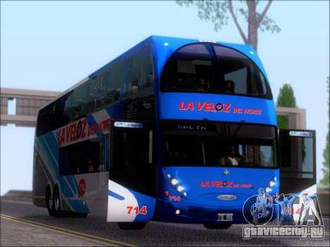Metalsur Starbus DP 1 6x2 - La Veloz del Norte для GTA San Andreas вид сбоку