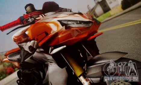 Kawasaki Z1000 2014 для GTA San Andreas вид сзади слева