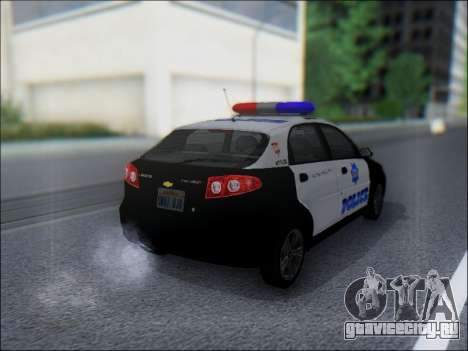 Chevrolet Lacetti Police для GTA San Andreas вид справа