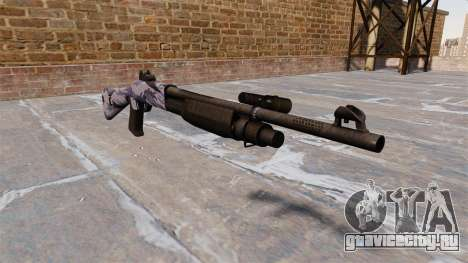 Ружьё Benelli M3 Super 90 blue tiger для GTA 4