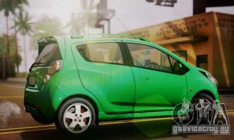 Chevrolet Spark 2011 для GTA San Andreas вид слева
