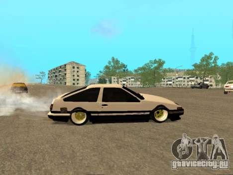 Toyota Corolla AE86 Trueno JDM для GTA San Andreas вид сверху