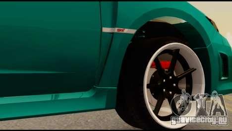 Subaru Impreza Stance Works для GTA San Andreas вид сзади слева
