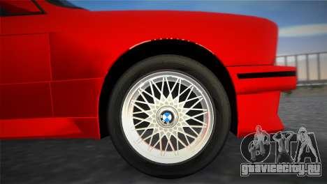 BMW M3 (E30) 1987 для GTA Vice City вид справа