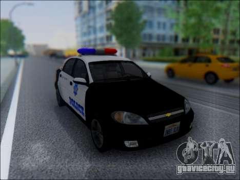 Chevrolet Lacetti Police для GTA San Andreas вид сзади