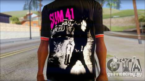 Sum 41 T-Shirt для GTA San Andreas третий скриншот