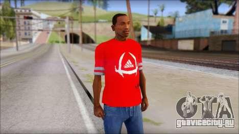 T-Shirt Adidas Red для GTA San Andreas