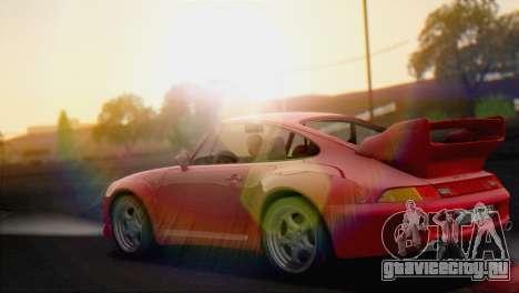 Porsche 911 GT2 (993) 1995 V1.0 EU Plate для GTA San Andreas вид сзади слева