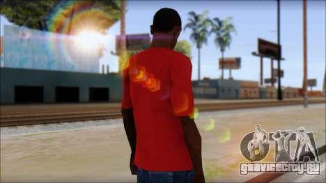 Arsenal T-Shirt для GTA San Andreas второй скриншот