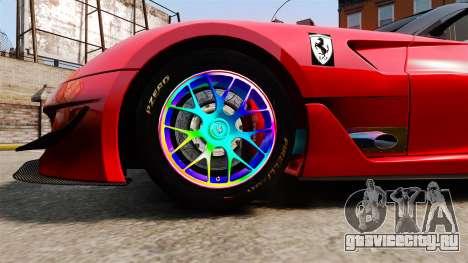 Ferrari F599 XX Evoluzione Simple CarbonFiber для GTA 4 вид сзади