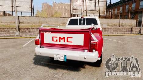 GMC 454 Pick-Up Up для GTA 4 вид сзади слева