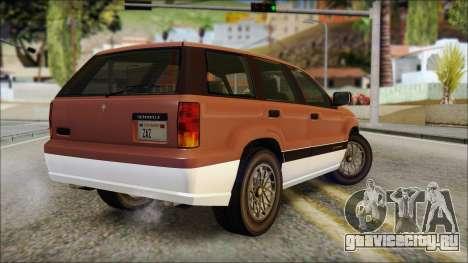 Seminole from GTA 5 для GTA San Andreas вид слева