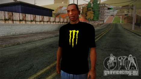 Monster Energy Shirt Black для GTA San Andreas