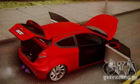 Ford Fiesta Turkey Drift Edition для GTA San Andreas вид изнутри