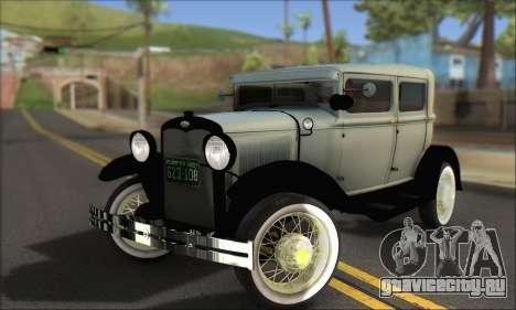 Ford A 1930 для GTA San Andreas вид снизу