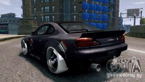 Nissan Silvia S15 Street Drift для GTA 4 вид слева