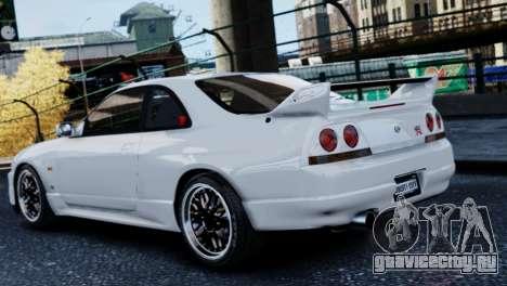 Nissan Skyline R33 1995 для GTA 4 вид слева