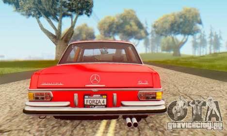 Mercedes-Benz 300SEL Stock 1972 для GTA San Andreas вид справа