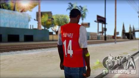 Arsenal Shirt для GTA San Andreas второй скриншот