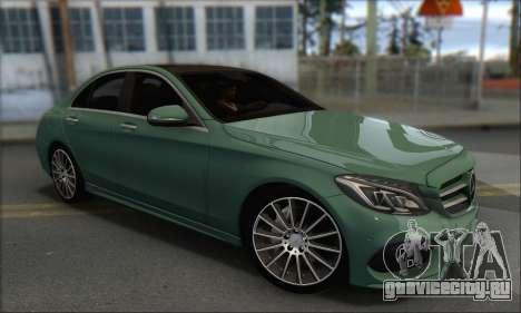 Mercedes-Benz C250 V1.0 2014 для GTA San Andreas вид справа