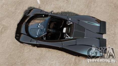Pagani Zonda C12S Roadster 2001 v1.1 PJ3 для GTA 4 вид справа