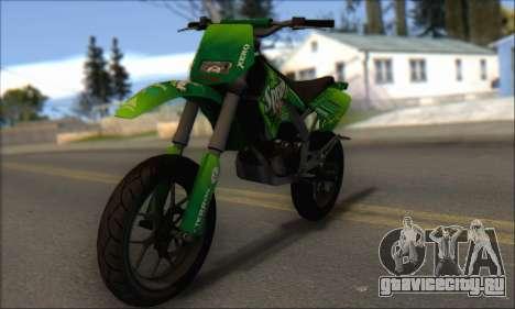 Sanchez from GTA V - Supermoto для GTA San Andreas вид слева
