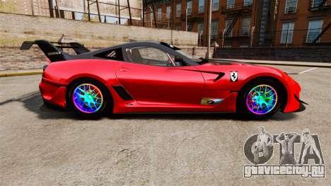 Ferrari F599 XX Evoluzione Simple CarbonFiber для GTA 4 вид слева