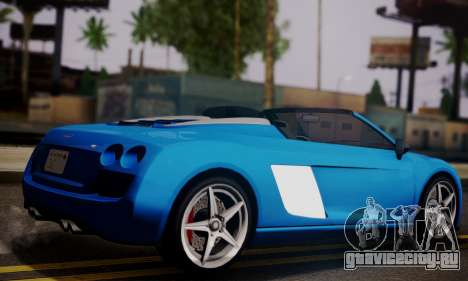 Obey 9F Cabrio для GTA San Andreas вид слева