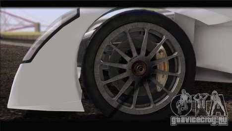 Caparo T1 2012 для GTA San Andreas вид сзади слева